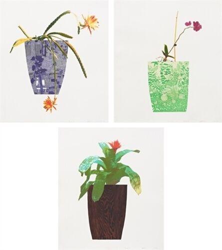 Jonas Wood, 'Three Landscape Pots ', 2019