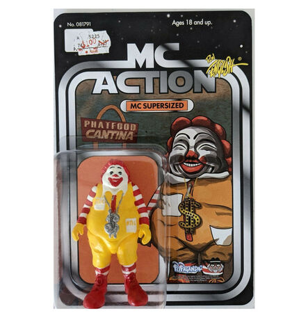 """Ron English, '""""MC Supersized"""", 2020, Carded Figure SIGNED/Numbered Edition 34 of 100', 2020"""