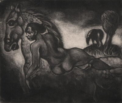 Dox Thrash, 'Figure on a Horse', ca. 1940s-50s