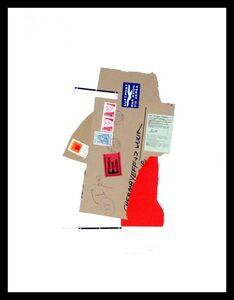 Ivan Chermayeff, 'Customs Inspector with Josef Albers postage stamp', 1982