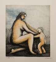 Henry Moore, 'Mother and Child XXVIII (1983) (signed)', 1983