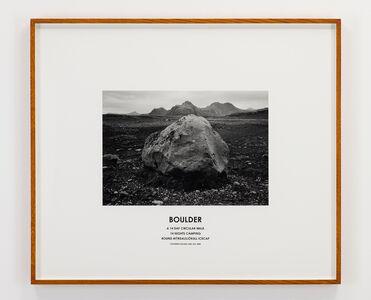 Hamish Fulton, 'Boulder, Iceland, 2008', 2008