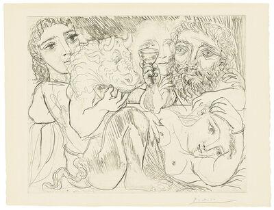Pablo Picasso, 'Minotaur, buveur et femmes, from: La Suite Vollard', 1933
