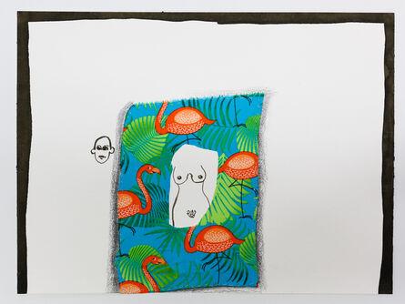 "Nilbar Güres, 'Covered Flamingos from the Series ""La Paz""', 2016"