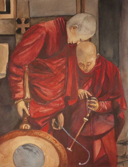 Carlos Giordano Giroldi, 'Bhutanese monk musicians', 2020