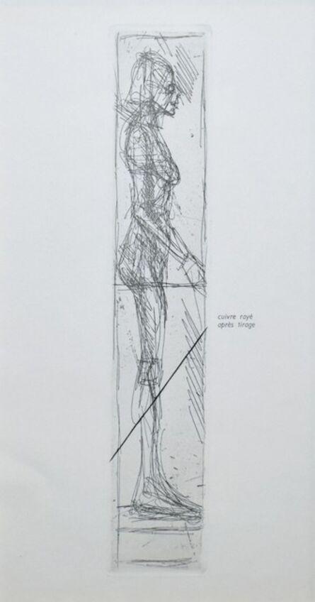Alberto Giacometti, 'Nude in Profile', 1956