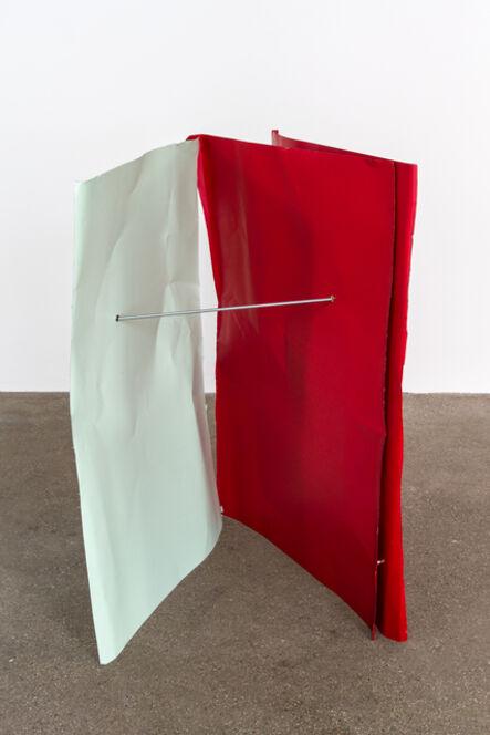 Michael Kienzer, 'Lichtgrün/Orientrot/Orientrot (Flyer 3-teilig)', 2016-2018