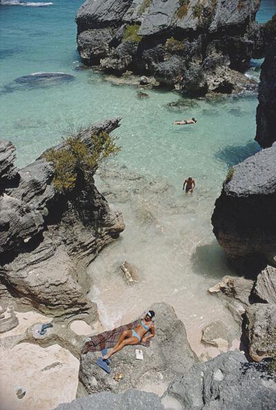 Slim Aarons, 'On The Beach In Bermuda, 1967: Sunbathing and swimming at a beach in Bermuda', 1967