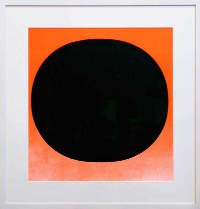 Rupprecht Geiger, 'Schwarzer Kreis auf Leuchtend Rot', 1968