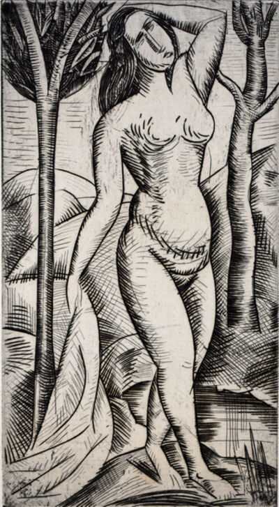 André Derain, 'Nude Bather among the Trees | Baigneuse nue aux arbres ', 1919