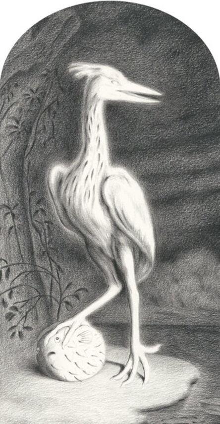 Sam Branton, 'Heron with Pufferfish', 2017