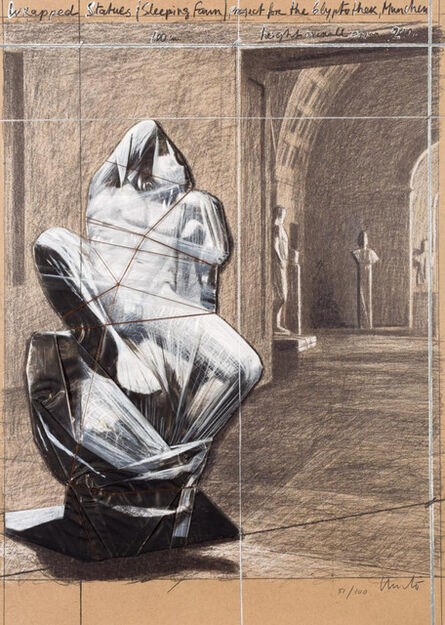 Christo, 'Wrapped Statues (Sleeping Faun). Project for the Glyptothek, Munich', 2000