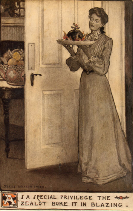 JESSIE WILLCOX SMITH, 'As a Special Privilege the Zealot Bore it in Blazing', 1903