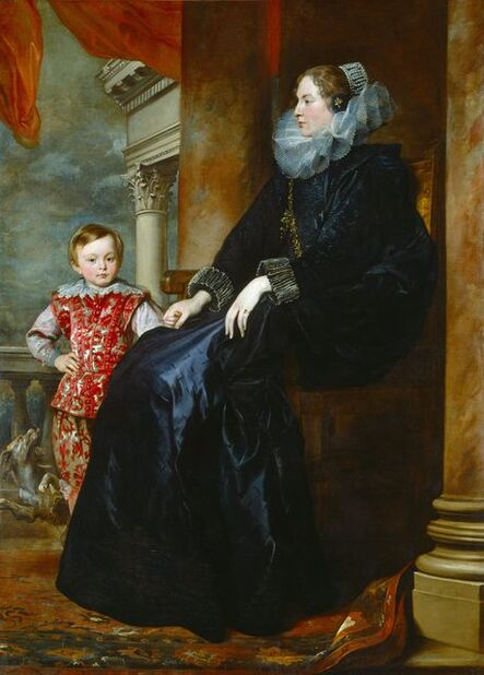 Anthony van Dyck, 'A Genoese Noblewoman and Her Son', c. 1626