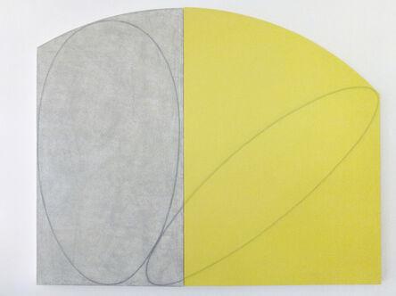 Robert Mangold (b.1937), 'Curved Plane / Figure I (Study)', 1994