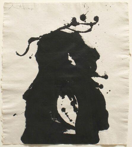 Robert Motherwell, 'Gesture Paper Painting No. 12', 1975