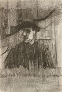 David Tindle, 'Self-portrait in a mirror', 1963