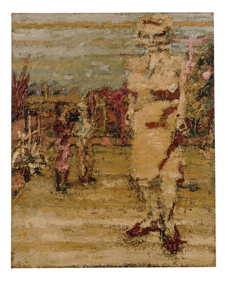 Frank Auerbach, 'E.O.W., S.A.W. and J.J.W. in the Garden l ', 1963