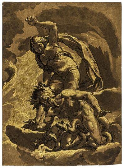 Johann Gottlieb Prestel, 'Truth Triumphing over Envy, after Jacopo Ligozzi', circa 1784