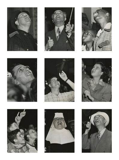 Weegee, 'Untitled (People Watching a Fire), July 28', 1945
