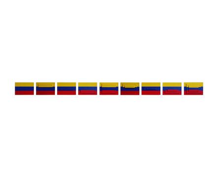 Juan José Olavarría, '3 banderas (9 piezas)', 2016