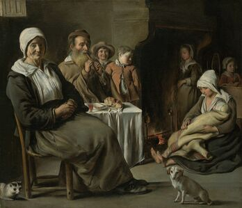 Antoine Le Nain, 'Peasant Interior with an Old Flute Player', 1642
