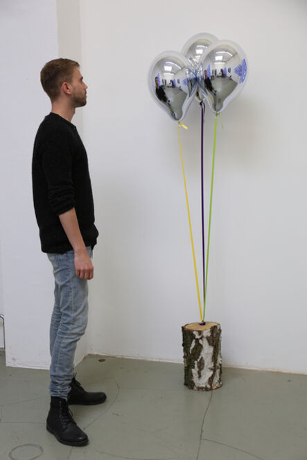Jeppe Hein, 'Mirror Balloons with Tree Trunk', 2015