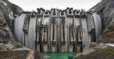 Edward Burtynsky, 'Xiluodu Dam #1, Yangtze River, Yunnan Province, China', 2002
