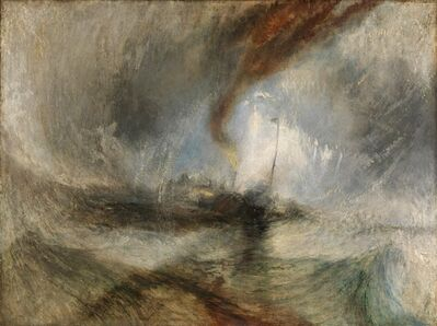 J. M. W. Turner, 'Snow Storm -Steam-Boat off a Harbour's Mouth', 1842
