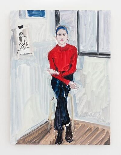 Jean-Philippe Delhomme, 'Lomane in red sweater', 2018