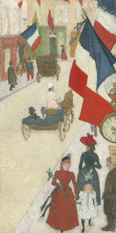 Pierre Bonnard, 'Paris, Rue de Parme on Bastille Day', 1890