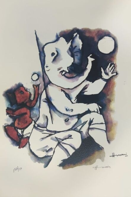 Maqbool Fida Husain, 'Untitled (Ashta Vinayak Series)', 2007