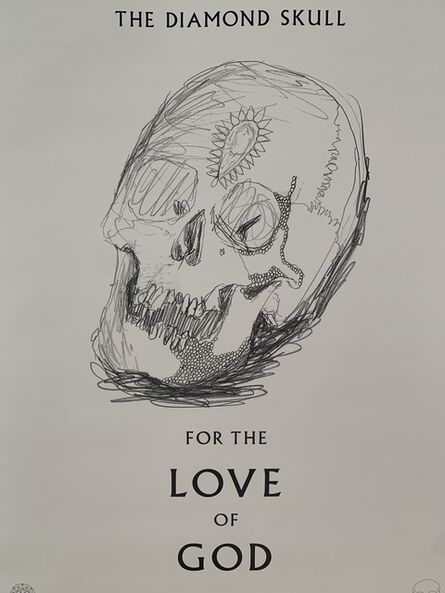 Damien Hirst, 'DAMIEN HIRST FOR THE LOVE OF GOD: THE DIAMOND SKULL, BEYOND BELIEF SKULL DRAWING', 2007