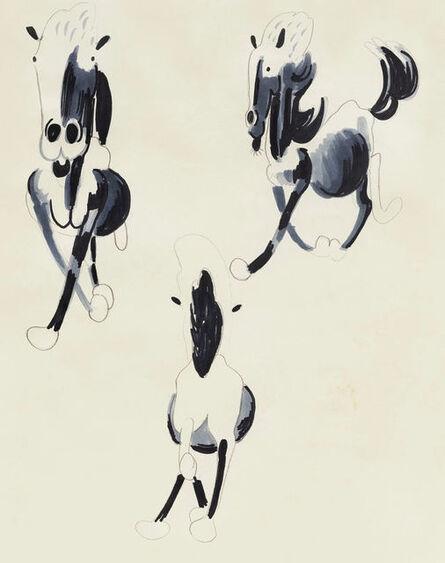 Song Ta 宋拓, 'Copy of Xu Beihong's Running Horse Front/Side/Back', 2020