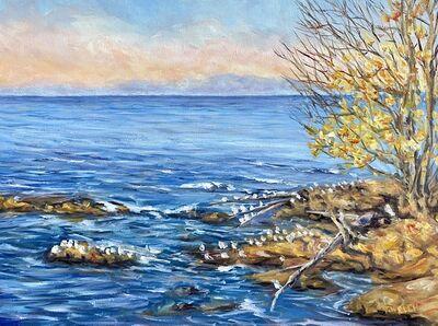 Terrill Welch, 'Golden Evening Across the Strait of Georgia', 2020