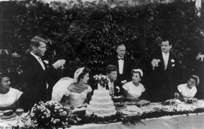 Toni Frissell, 'The wedding of John F. Kennedy and Jacqueline Bouvier, Newport, Rhode Island', 1942