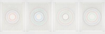 Ignacio Uriarte, 'Straight circles 1, 2, 3, 4 (quadruple)', 2015