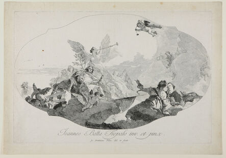 Giovanni Domenico Tiepolo, 'Valor and Other Allegorical Figures: The Glorification of the Barbaro Family.', before 1776