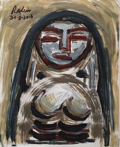 "Rabin Mondal, 'Woman, Acrylic on Board by Modern Indian Artist ""In Stock""', 2014"