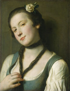 Pietro Rotari, 'A Girl with a Flower in Her Hair', 1760/1762