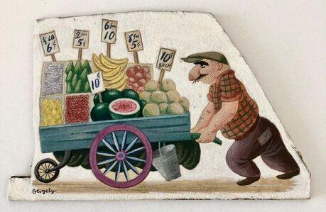 Tibor Gergely, 'Pushcart Grocer', c.1950s