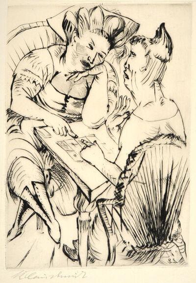 PAUL KLEINSCHMIDT, 'Bei Der Kartenschlägerin', ca. 1920s