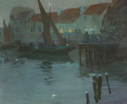 Richard Miller, 'The Harbor at Night, Concarneau'