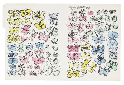 Andy Warhol, 'Happy Butterfly Days', c.1955-1956
