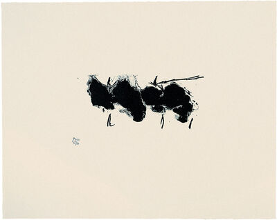 Robert Motherwell, 'Automatism Elegy (State II Buff)', 1980