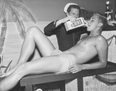 Bob Mizer, 'Rand Simmons and Dick Kern (Jerseymaid), Los Angeles', 1961