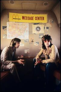 "Ethan Russell, 'Charlie Watts and Keith Richards ""Message Center"", 1972', 1972"