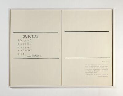 Mekhitar Garabedian, 'Suicide / Fragementation', 2013-2014