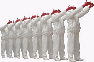 Liu Bolin, 'Red Hand (White Set of 8), 2008', 2008
