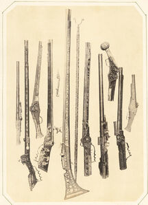 Andreas Groll, 'Gewehrkolben (Pistols and Guns)', 1857/1857